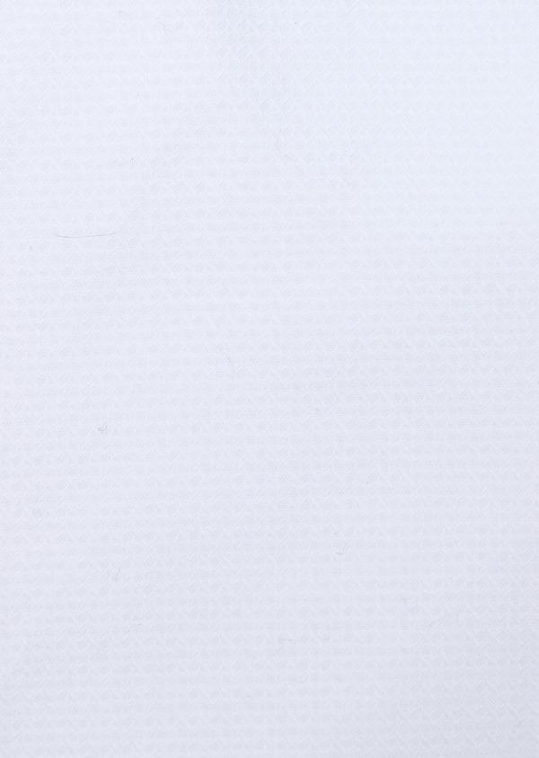 Chemise manches courtes Slim en coton façonné uni blanc - Father and Sons 34110