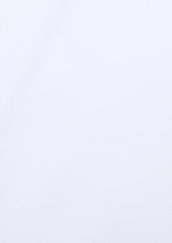 Chemise manches courtes Slim en satin de coton uni blanc - Father and Sons 34122