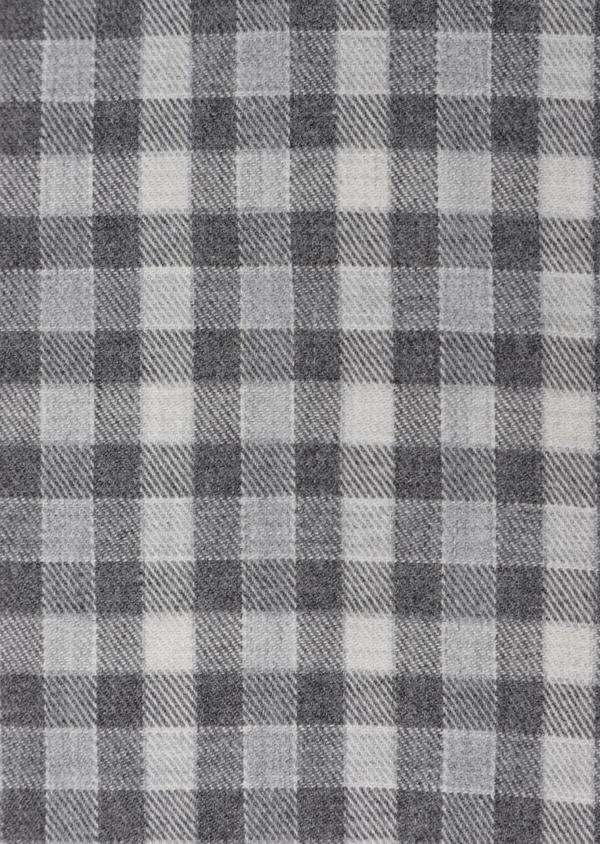 Chemise sport Regular en twill de coton gris à carreaux - Father and Sons 35653
