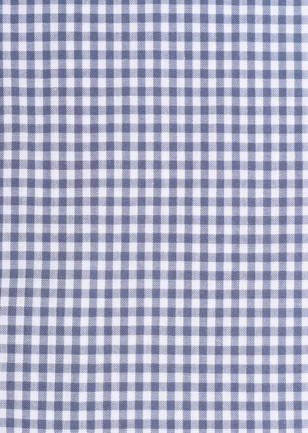 Chemise sport Regular en popeline de coton à carreaux bleus - Father and Sons 34372