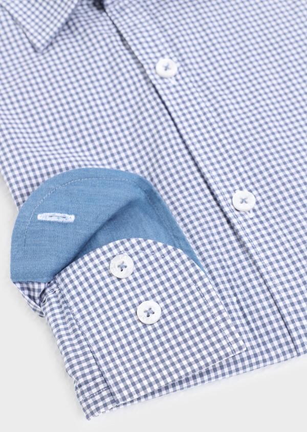 Chemise sport Regular en popeline de coton à carreaux bleus - Father and Sons 34374