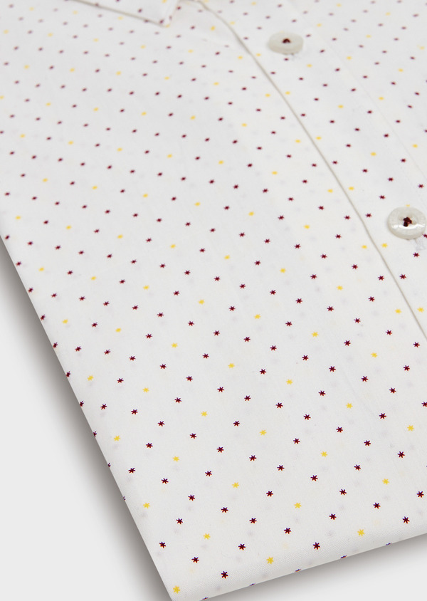 Chemise sport Regular en popeline de coton à motif fantaisie blanc - Father and Sons 34616