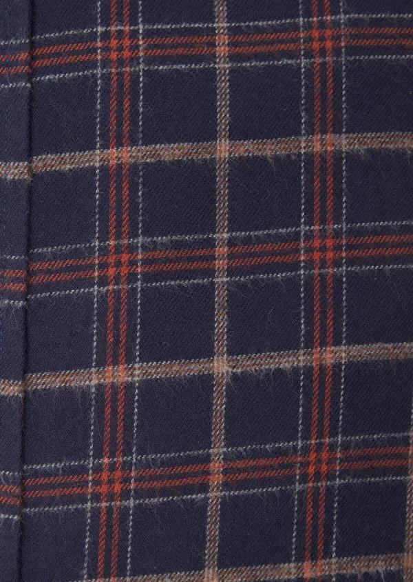 Chemise sport Regular en popeline de coton bleu nuit à motifs géométriques - Father and Sons 36592