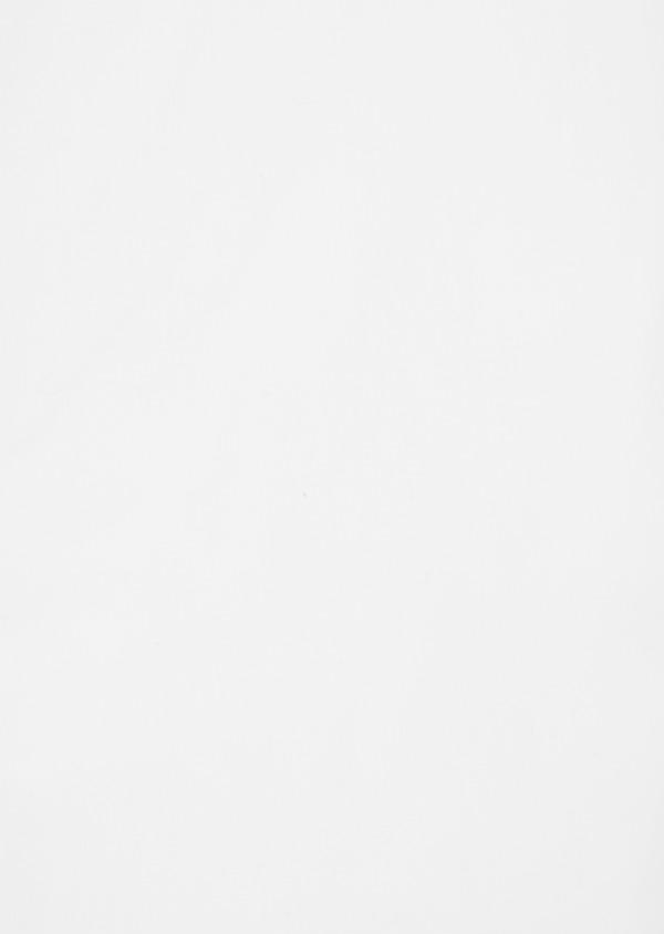 Chemise sport Regular en satin de coton uni blanc à col officier - Father and Sons 40170
