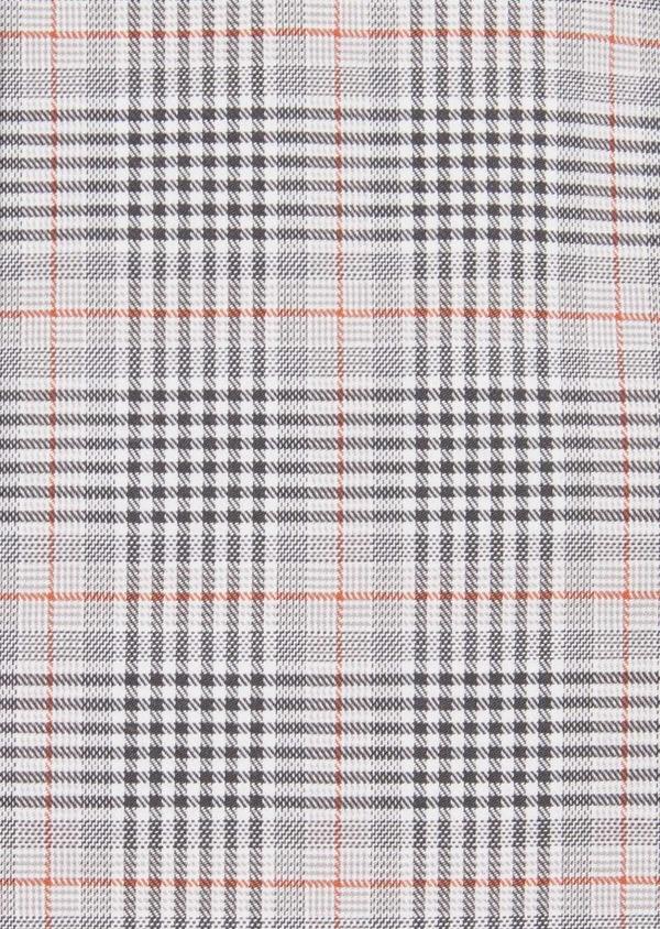 Chemise sport Slim en popeline de coton gris à motif Prince-de-Galles - Father and Sons 36584