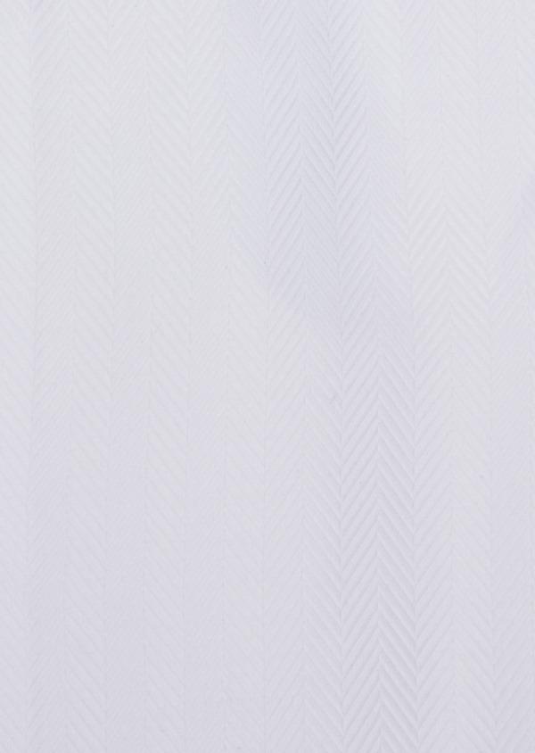 Chemise habillée Regular en chevron coton uni blanc - Father and Sons 34921