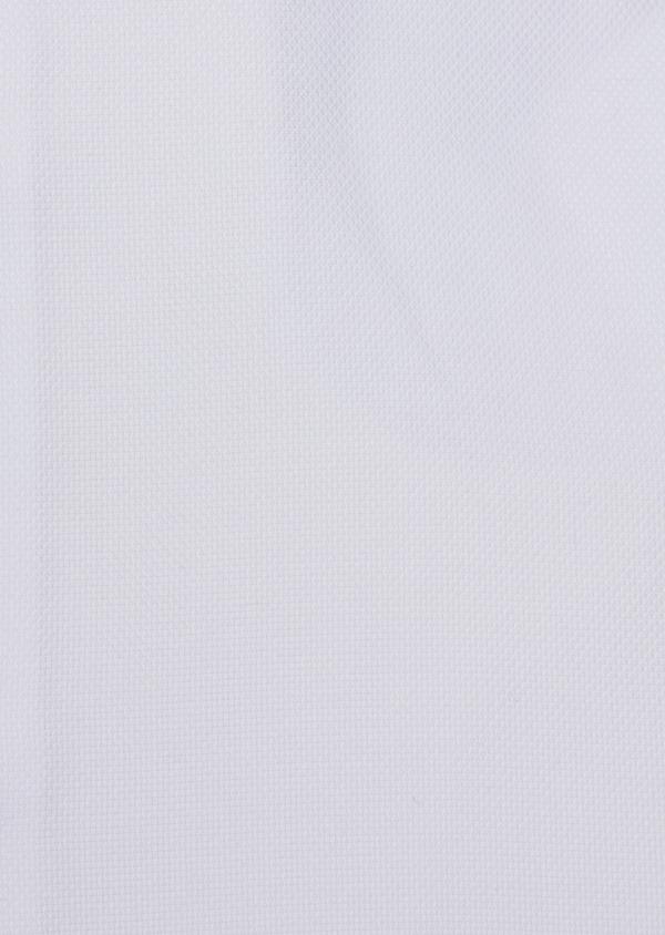 Chemise habillée Regular en coton façonné uni blanc - Father and Sons 34997