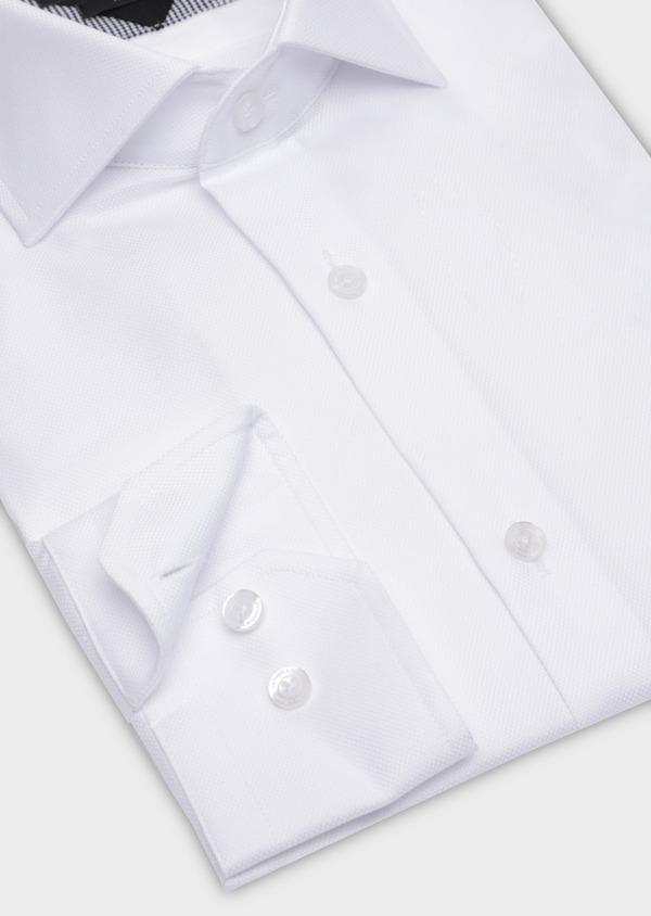 Chemise habillée Regular en coton façonné uni blanc - Father and Sons 34999