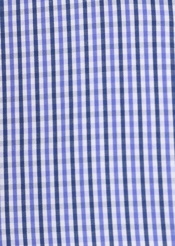 Chemise habillée Regular en popeline de coton à carreaux bleus et blancs - Father and Sons 34897