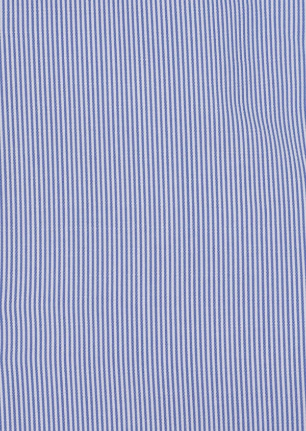 Chemise habillée Regular en popeline de coton à rayures bleues et blanches - Father and Sons 34957