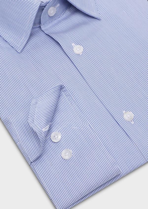Chemise habillée Regular en popeline de coton à rayures bleues et blanches - Father and Sons 34959