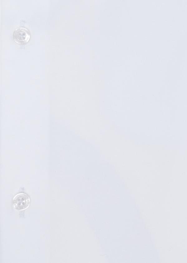 Chemise habillée Regular en satin de coton uni blanc - Father and Sons 34937