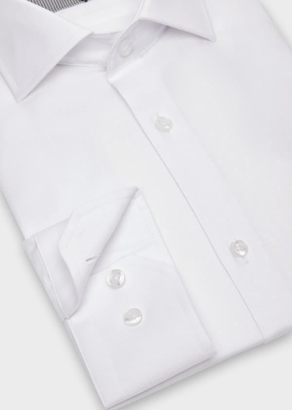 Chemise habillée Regular en coton façonné uni blanc - Father and Sons 36660