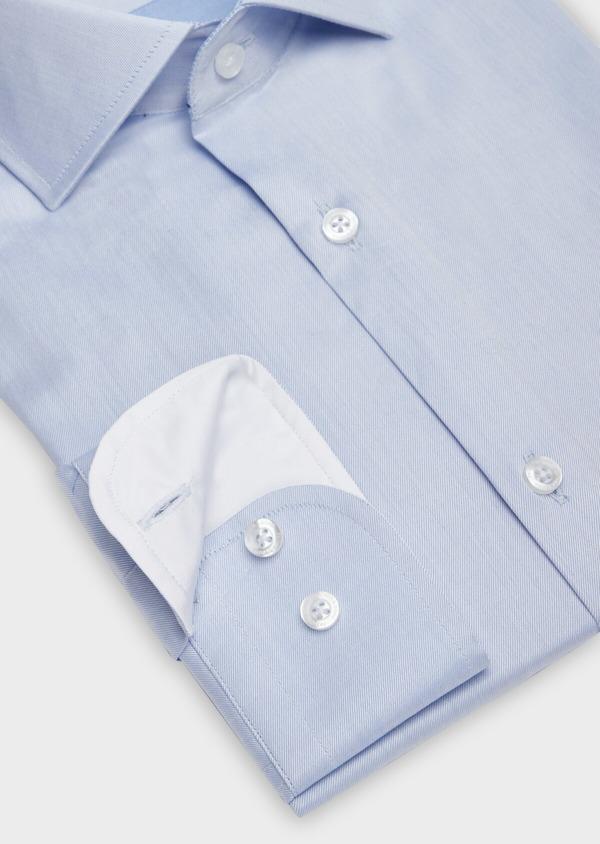 Chemise habillée Regular en twill de coton uni bleu chambray - Father and Sons 38386