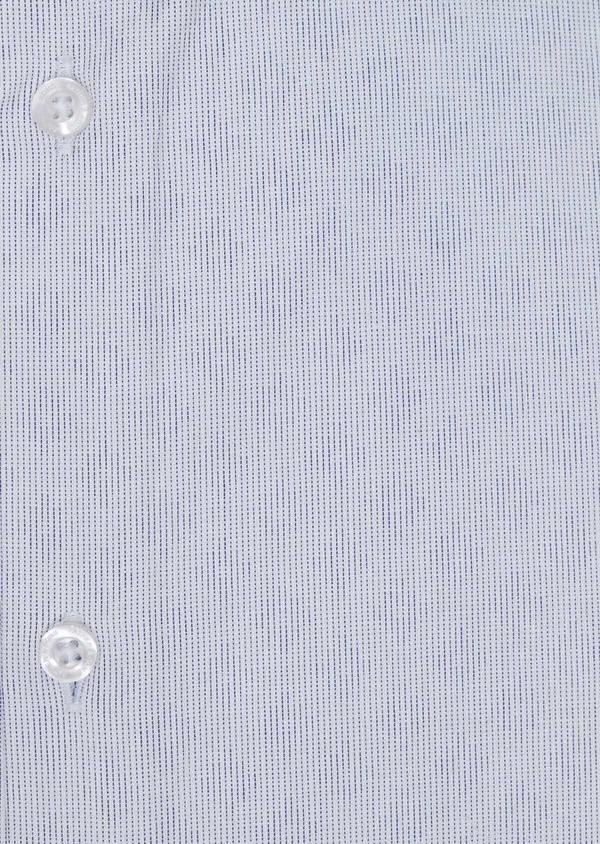 Chemise habillée Slim en twill de coton blanc à motif fantaisie bleu - Father and Sons 34945