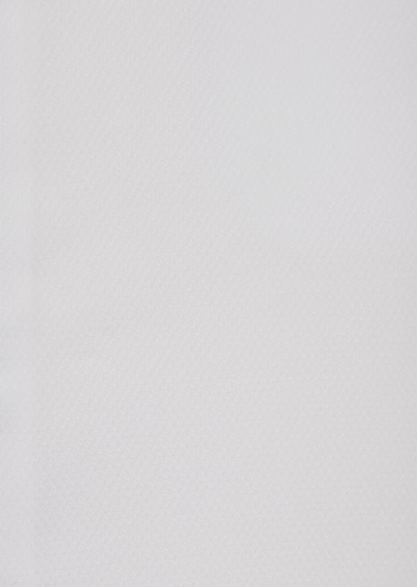 Chemise habillée Slim en coton façonné blanc à motif fantaisie - Father and Sons 36654