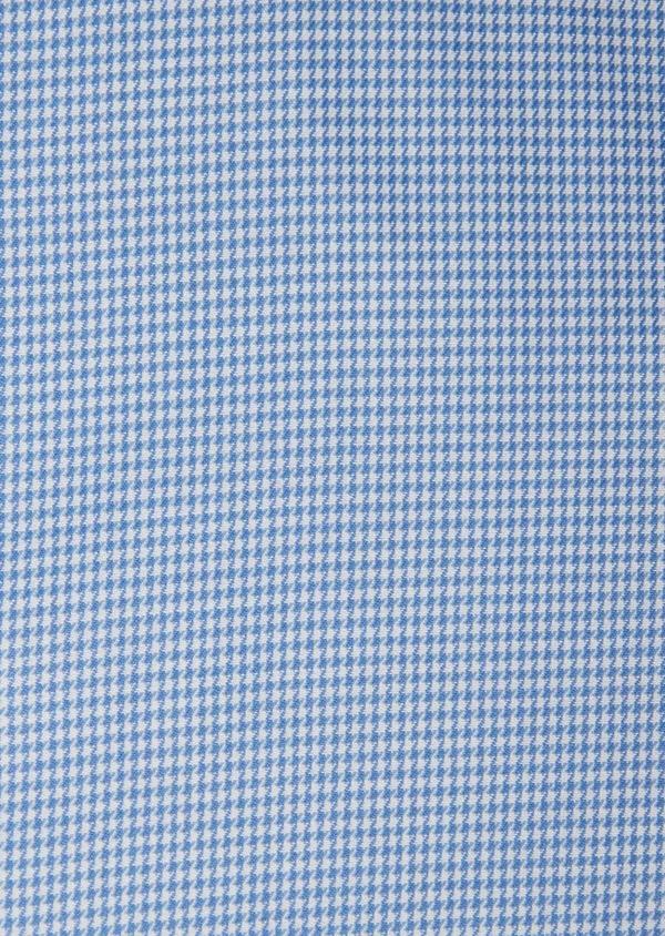 Chemise habillée Slim en popeline de coton bleu azur à motif fantaisie - Father and Sons 38995