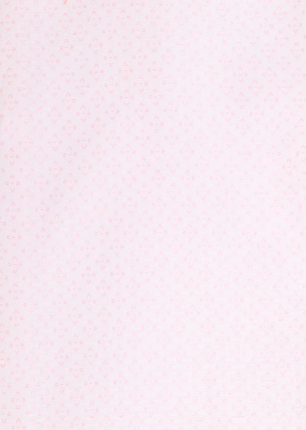 Chemise habillée Slim en coton façonné rose à motifs géométriques - Father and Sons 34877