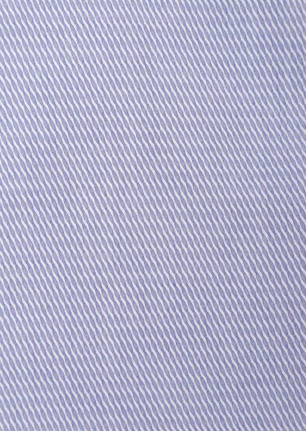 Chemise habillée Slim en coton Jacquard bleu chambray à motif fantaisie bleu et blanc - Father and Sons 35789