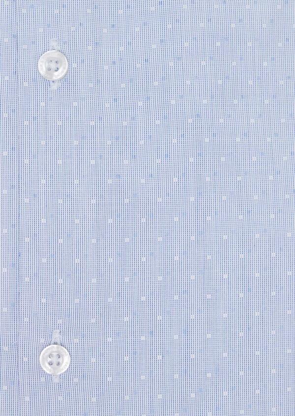 Chemise habillée Slim en coton fil à fil bleu ciel à pois bleus et blancs - Father and Sons 34933