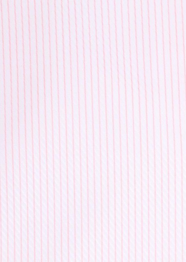 Chemise habillée Slim en coton Jacquard à rayures roses et blanches - Father and Sons 34905