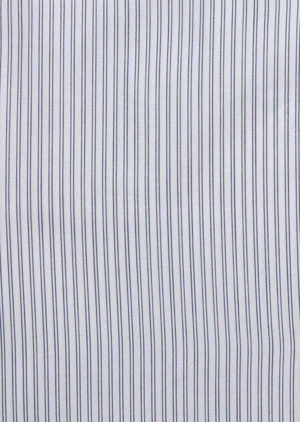 Chemise habillée Slim en popeline de coton blanc à rayures - Father and Sons 38364