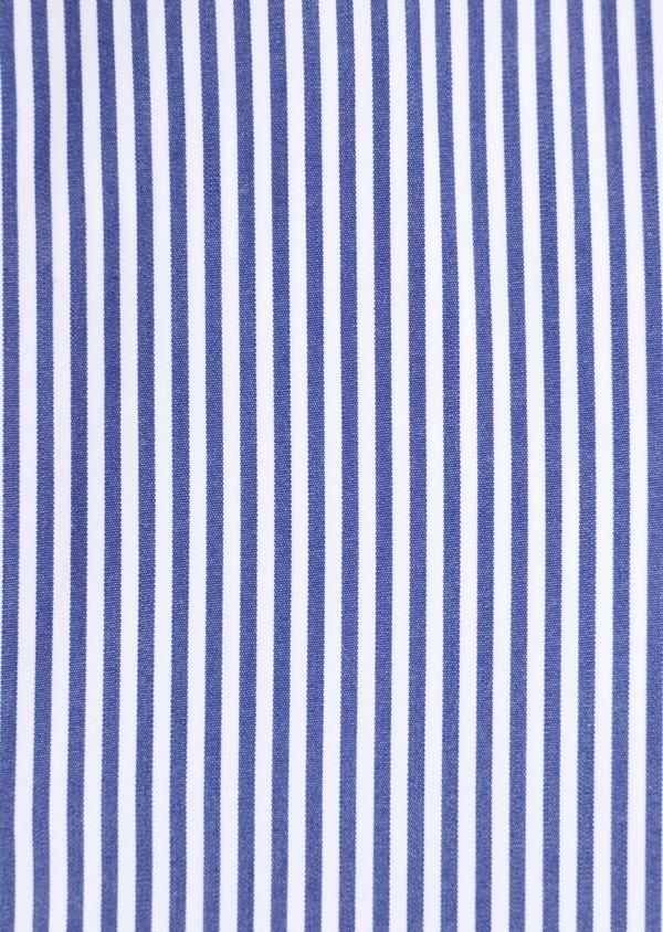 Chemise habillée Slim en popeline de coton à rayures blanches et bleues - Father and Sons 34893