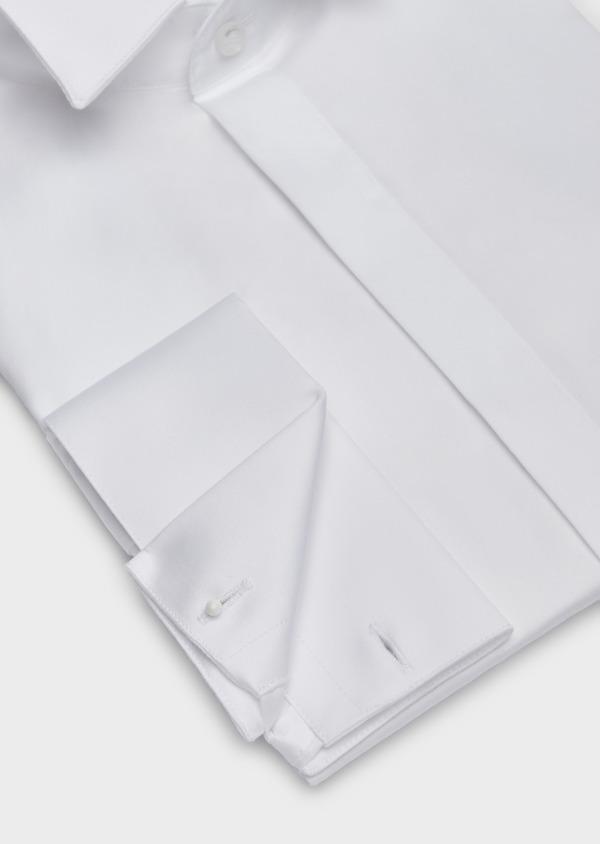 Chemise habillée Slim en popeline de coton blanc à col cassé - Father and Sons 37262