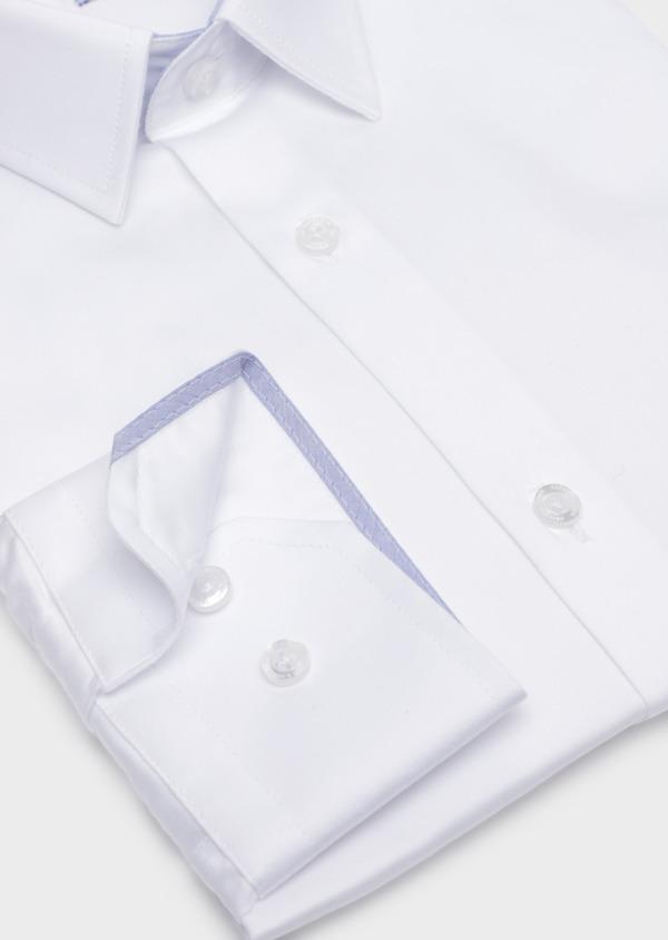 Chemise habillée Slim en satin de coton uni blanc - Father and Sons 34927