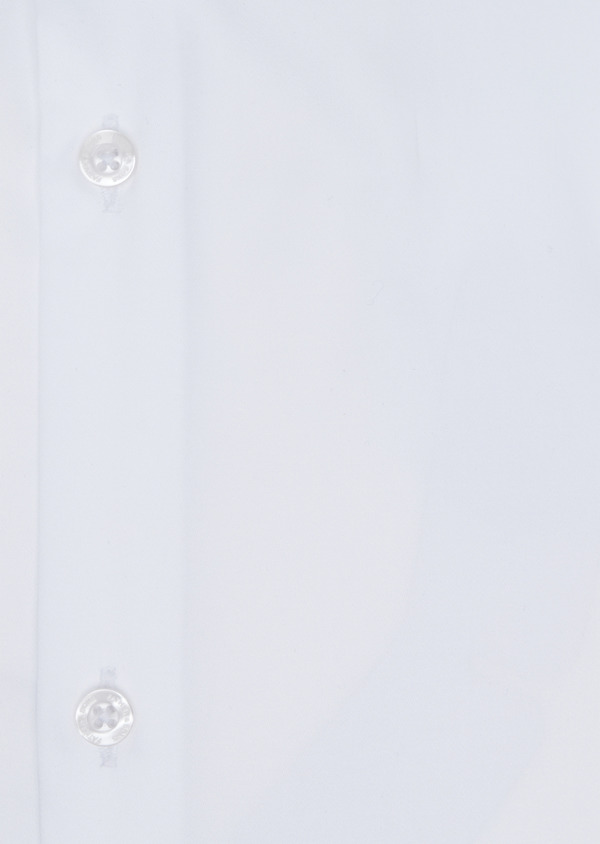 Chemise habillée Slim en satin de coton uni blanc - Father and Sons 34953