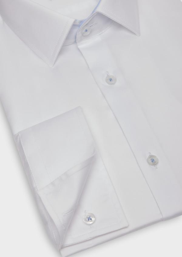Chemise habillée Slim en satin de coton blanc - Father and Sons 36648