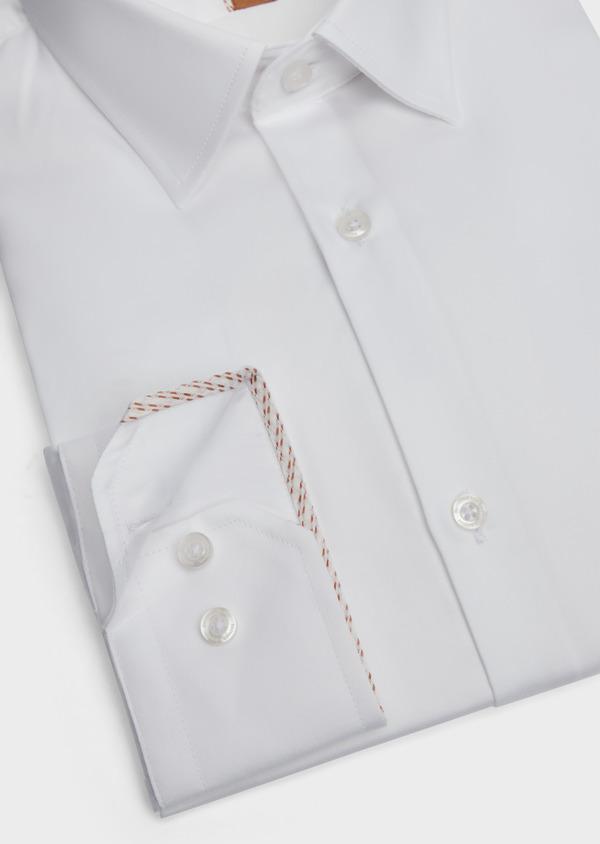 Chemise habillée Regular en satin de coton uni blanc - Father and Sons 39368