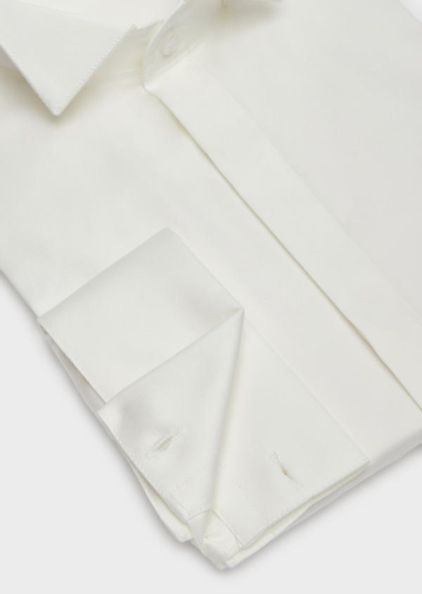 Chemise habillée Slim en popeline de coton écru à col cassé - Father and Sons 37281