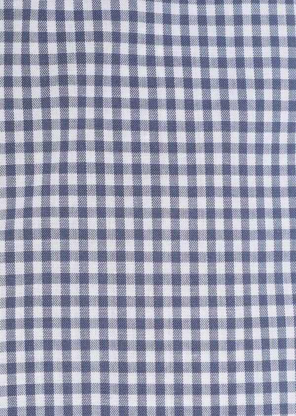 Chemise sport Regular en popeline de coton à carreaux blanc et bleu - Father and Sons 32599