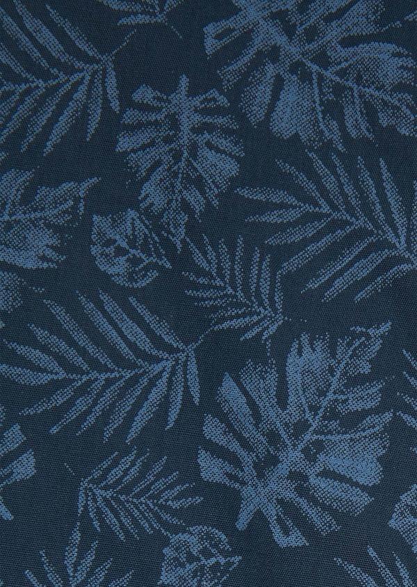 Chemise sport Regular en popeline de coton à motif fantaisie bleu jeans - Father and Sons 26255