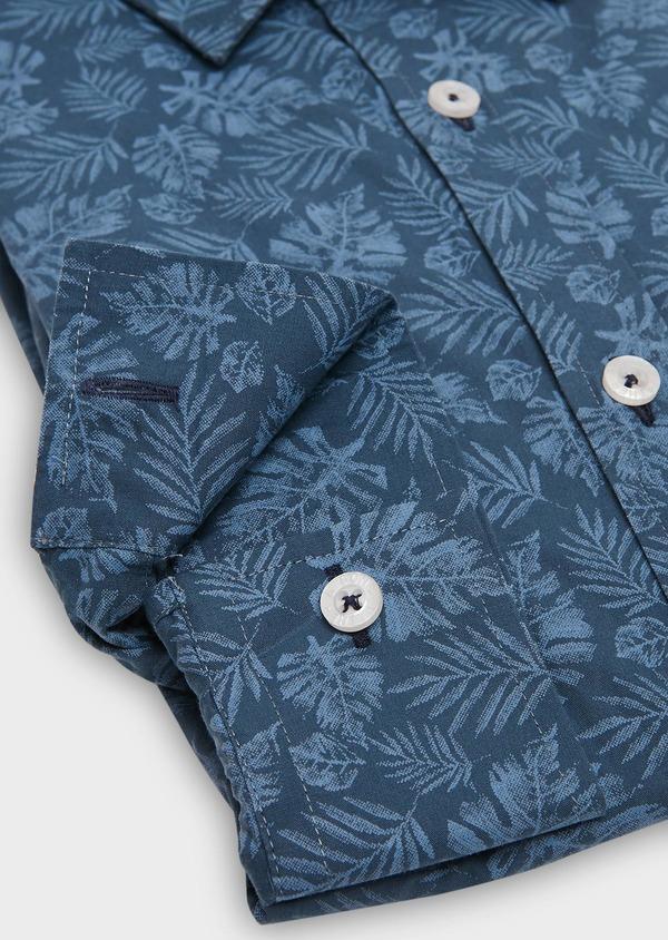 Chemise sport Regular en popeline de coton à motif fantaisie bleu jeans - Father and Sons 26257