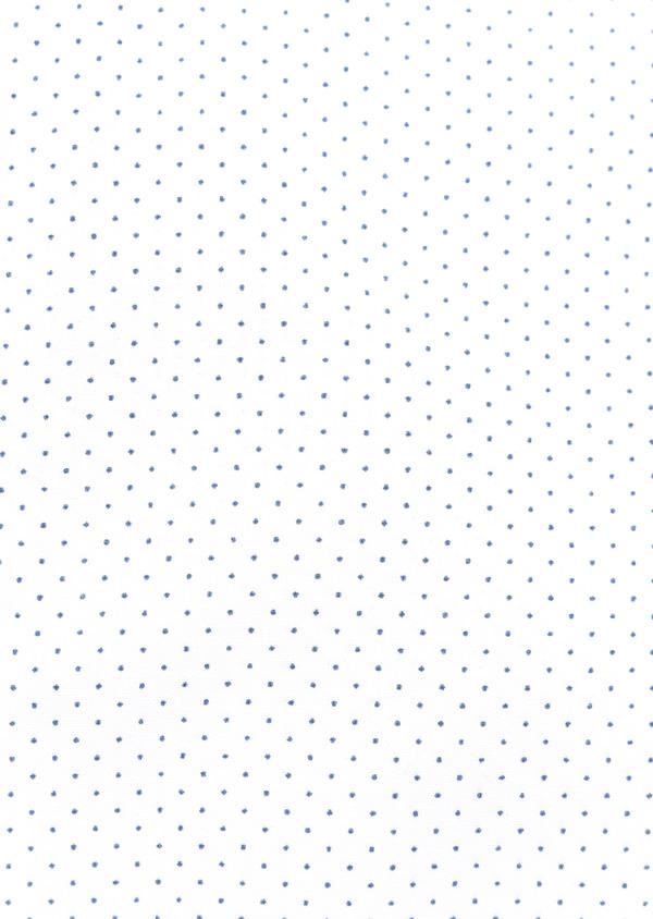 Chemise sport Regular en popeline de coton blanc à pois bleus - Father and Sons 32567