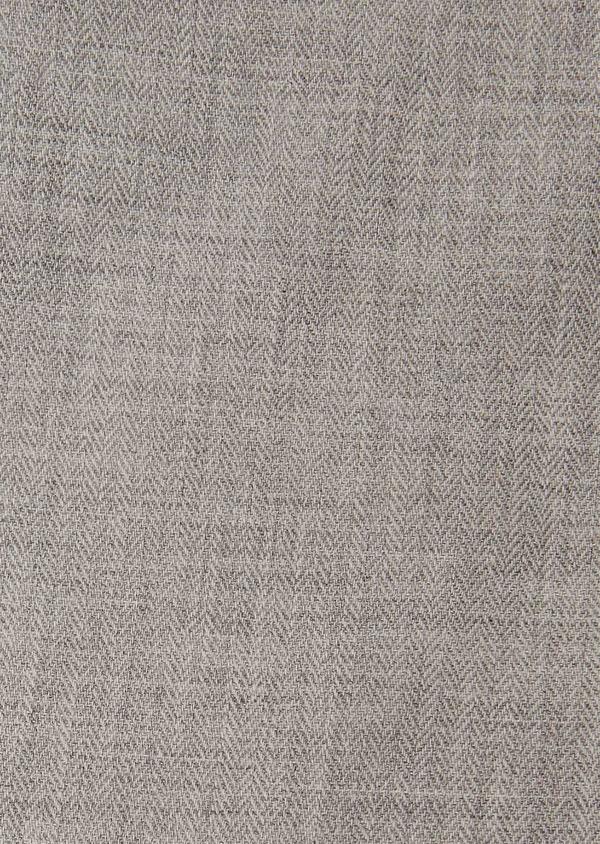 Chemise sport Regular en coton tissé chevron gris uni - Father and Sons 26248