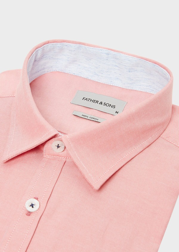 Chemise sport Regular en coton Oxford uni rose - Father and Sons 32560