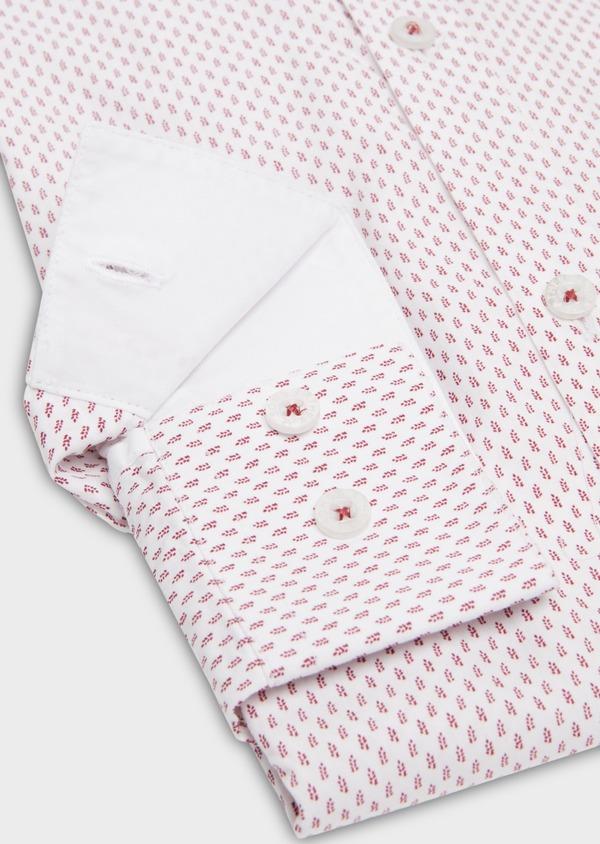 Chemise sport Slim en popeline de coton à motifs fantaisie roses - Father and Sons 20110