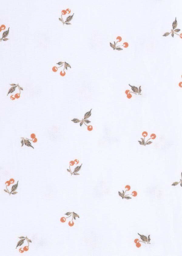 Chemise manches courtes Slim en popeline de coton à motif fantaisie blanc - Father and Sons 34391