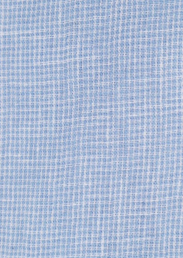 Chemise sport Slim en lin à rayures bleu ciel - Father and Sons 34414