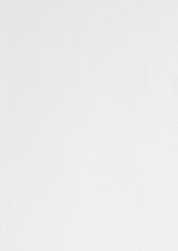 Chemise sport Slim en coton façonné blanc uni - Father and Sons 32611