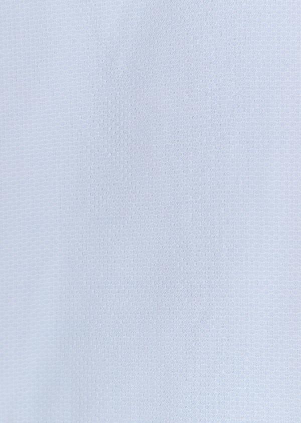 Chemise sport Slim en coton façonné uni bleu ciel à col officier - Father and Sons 32563