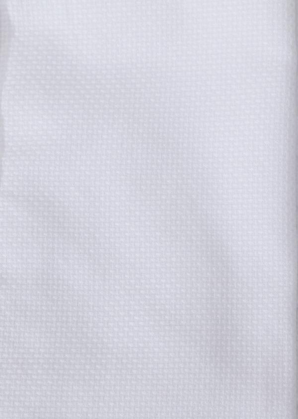 Chemise sport Slim en façonné de coton mélangé blanc - Father and Sons 30906