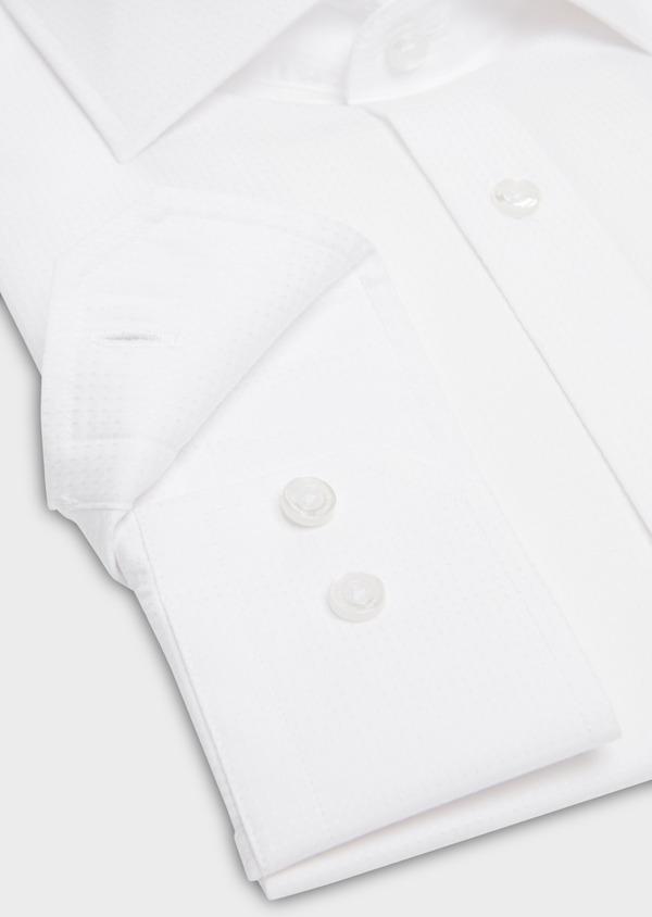 Chemise habillée Regular en coton façonné uni blanc - Father and Sons 18241