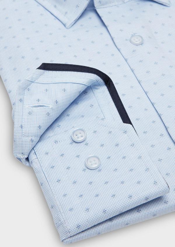 Chemise habillée Regular à motif fantaisie bleu azur - Father and Sons 26019