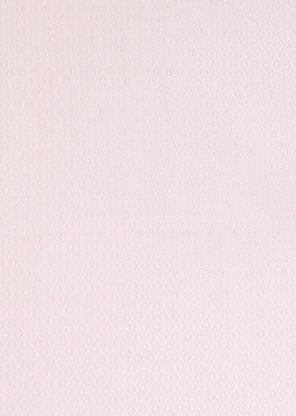 Chemise habillée Regular en coton façonné rose à motif fantaisie blanc - Father and Sons 32407