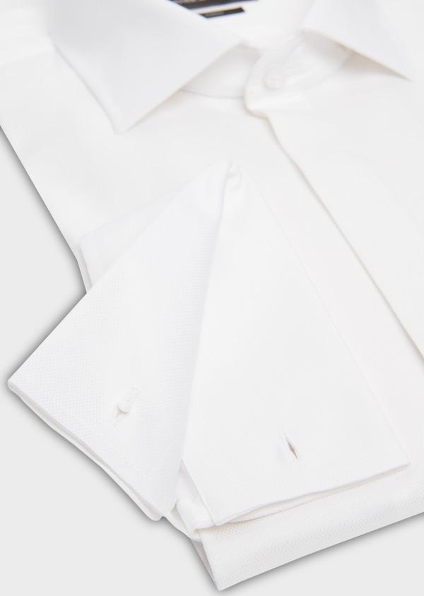Chemise habillée Regular en façonné de coton écru à motifs fantaisie - Father and Sons 18247