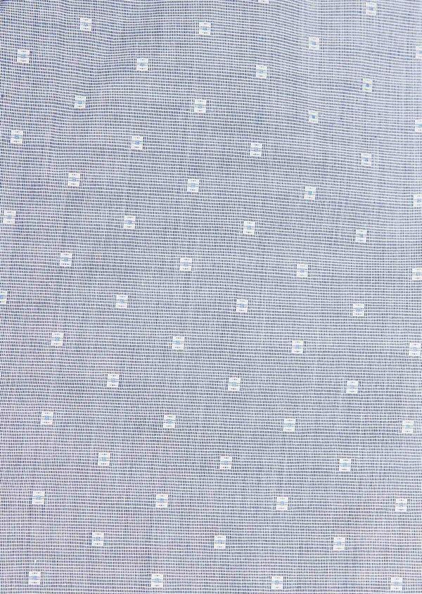 Chemise habillée Regular en coton fil-à-fil bleu indigo à motif fantaisie blanc - Father and Sons 32431